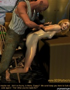 Naked blonde girl tortured in the basement!
