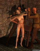 Chained and crucified slave girls!