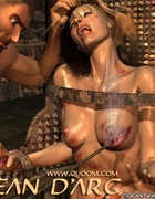 Blonde girl tied to the chair and gets hot iron on…