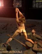 Captured girk gets gang-banged on the abandoned…
