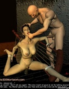 Bound girl forced to give a head!