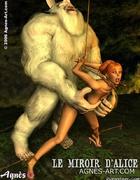 White beast fucks redhead slave girl!