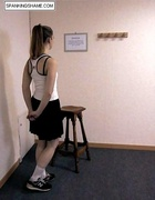 Petite brunette school girl humiliated and spanked…