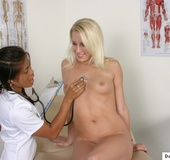 Blonde gets her breast exam from horny doc