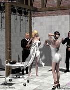 Blonde slave girl gets her pussy washed!