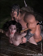 Big guard fucked Snow White and pushed her into…