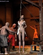 They removed her clothes and chained her!