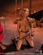 Blonde slave girl crying for mercy!