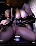 Rednead Mistress tortures his blondE slave!
