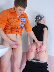 Sassy girl-thief getting spanked and backdoor - XXXonXXX - Pic 14