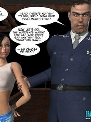 Busty 3d young school girl forced to suck - Cartoon Sex - Picture 2