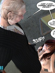 Busty 3d young school girl forced to suck - Cartoon Sex - Picture 5