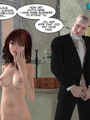 Busty 3d young school girl forced to suck - Cartoon Sex - Picture 7