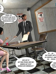 Young 3d lusty nymph seduced investigator and - Cartoon Sex - Picture 8