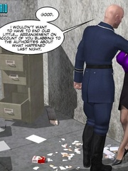 Horny security guy being watched while - Cartoon Sex - Picture 5
