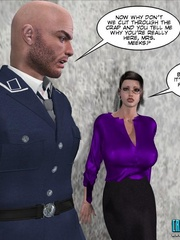 Horny security guy being watched while - Cartoon Sex - Picture 6