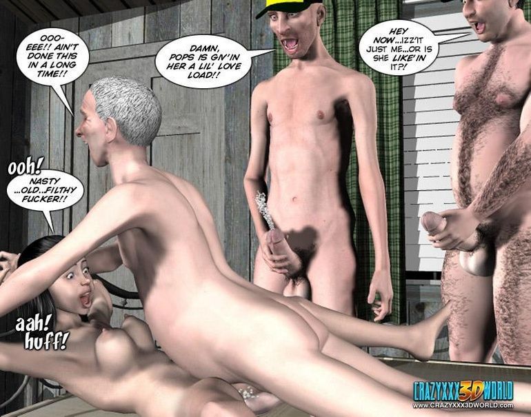 Different cartoons get tied up and fucked