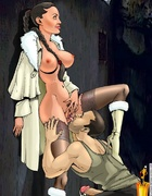 Sexy cartoon chick Lara Croft gets her tight holes…