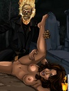Sex hungry Ghost Rider cartoon heroine like sex…
