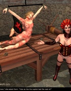 Slave girl was laid on the torture table!