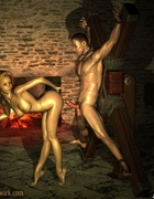 Mistress teases her sex-starved slave man!