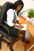Ebony secretary is ready for a good office fuck.…