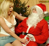She gives Santa a handjob! An entire hot cfnm…