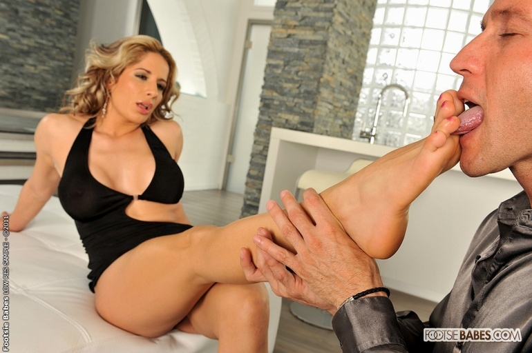 licking Adult foot