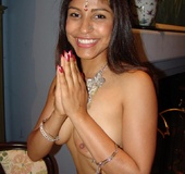 Pretty Indian model Mehla slurping a stiff cock before taking it in her tight cunt