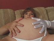 busty preggo white lingerie