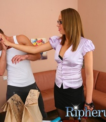 Deliveryman gets horny when hot secretary - XXX Dessert - Picture 3