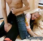 Blonde slut gets her asshole stretched with a long&hellip;