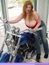 Biker Babe Toni KatVixen Shows Off Her Chopper