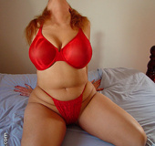 Horny Toni KatVixen Pulls On Her Red Thong