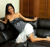 Asian ladyboy on couch gets rock hard for the&hellip;