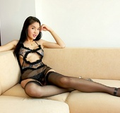 Sexy lingerie is removed by ladyboy to reveal big…