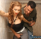 Horny stud rips off petite Latinas clothes and…
