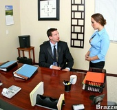 Big titted Kaylee Lovkox convincing her boss to…