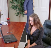Penny Flame introduces herself in the office by…