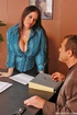 Busty office girl Daphne Rosen gets busy with a…