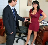 Busty Eva Angelina restaurant manager steeling…