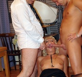Sexy blonde secretary loves to fuck her colleagues…