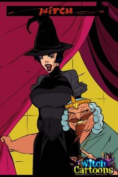 Evil king bangs his sorceress - Cartoon porn comics - Picture 1