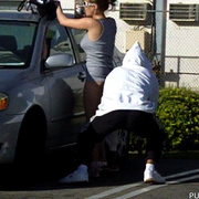 Outdoorsex - Girls sharked, stripped and pantsed in public!