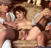Seventies lady gets stuffed with two dicks at the…