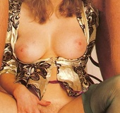 Seventies lady enjoys three big dicks at one time…