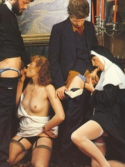 Hairy - Seventies nuns and priests love to - XXX Dessert - Picture 7