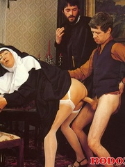 Hairy - Seventies nuns and priests love to - XXX Dessert - Picture 8