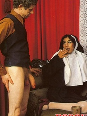 Hairy - Seventies nuns and priests love to - XXX Dessert - Picture 11