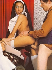Hairy - Seventies nuns and priests love to - XXX Dessert - Picture 13